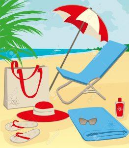 10179034-cosas-de-la-playa-de-arena-ilustraci-n-Foto-de-archivo